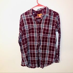 Joe Fresh Plaid Button-down